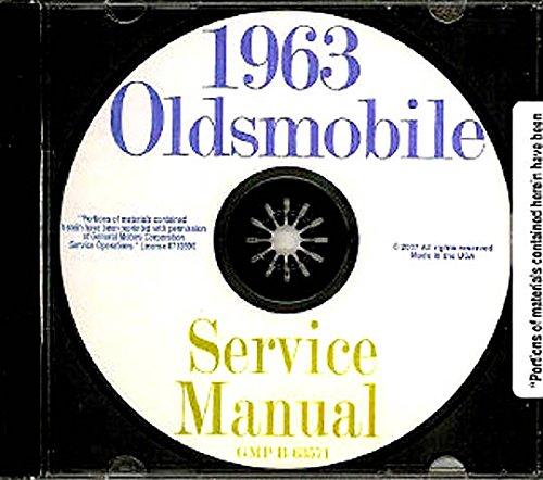 (1963 Oldsmobile Repair Shop and Service Manual CD F85 Cutlass 88 98 Jetfire Starfire)