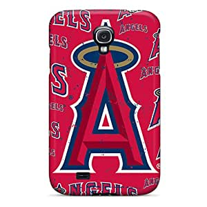 Shock-Absorbing Cell-phone Hard Covers For Samsung Galaxy S4 (xxZ4660OjwJ) Customized Realistic Los Angeles Angels Pattern