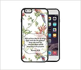 Amazon Co Jp Romans 8 28 聖書の詩 赤いトロピカルフラワーとカラフルなオウムの鳥壁紙 Apple Iphone 6 6s Plus 5 5 ゴムtpuシリコン電話ケース Iphone 6 Plus Iphone 6s Plusにフィット 本