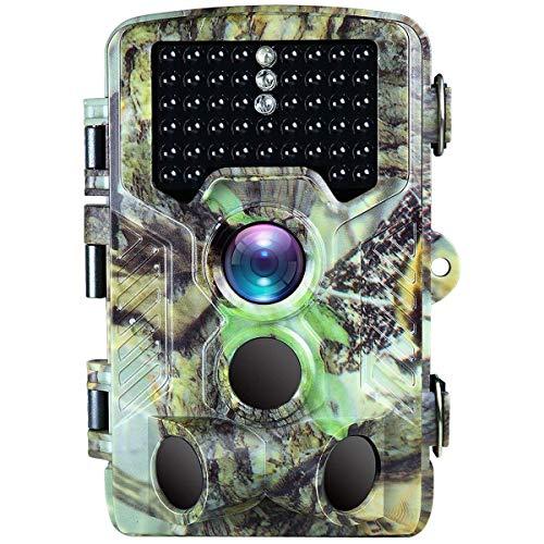 BanffCliff 16MP 1080P Trail Camera 46PCs LEDs 65FT IR Flash Range, 120° Wide Angle 0.2S Trigger Time 2.4
