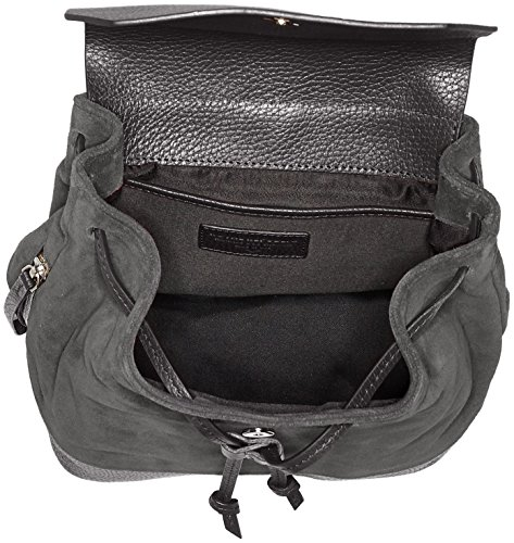 Bucket Republiq Gris Royal Petite Mujer Suede Mochilas anthracite 54zZx