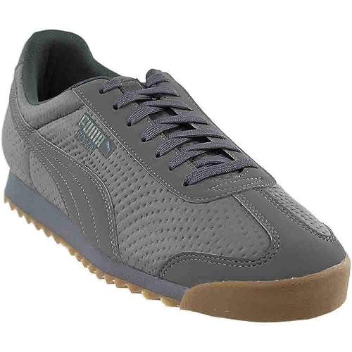 Puma Roma TriEmboss Hombre US 12 Gris Zapatillas: Amazon.es: Zapatos y complementos