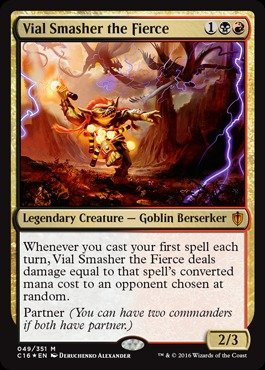 Magic: the Gathering - Vial Smasher the Fierce - Commander 2016 - Foil