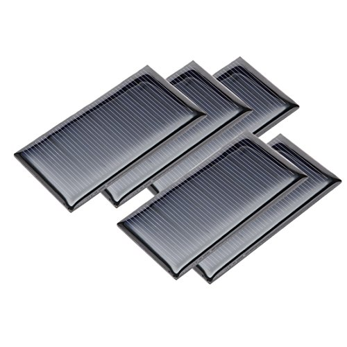 uxcell 5Pcs 5V 60mA Poly Mini Solar Cell Panel Module DIY for Phone Light Toys Charger 67.5mm x 35mm