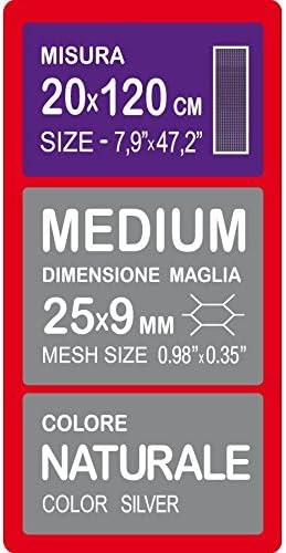 120 x 20 cm Rejilla de Aluminio Cromado TUNING GURU 1108393