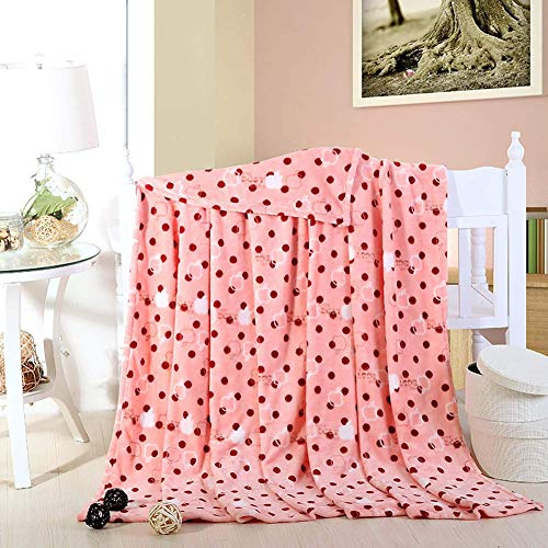 Smibra Comfy Floral Blankets Kids/Adults Plush Thick Toddler Blankets Bedding Couch Car Seat Throw Blankets for Baby and Pets-003(W70 x L78 Inch, Pink) (Angels Blanket Pink Baby)