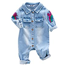 MNBS Spring Baby Rompers Demin Soft Cozy Jumpsuit Clothes