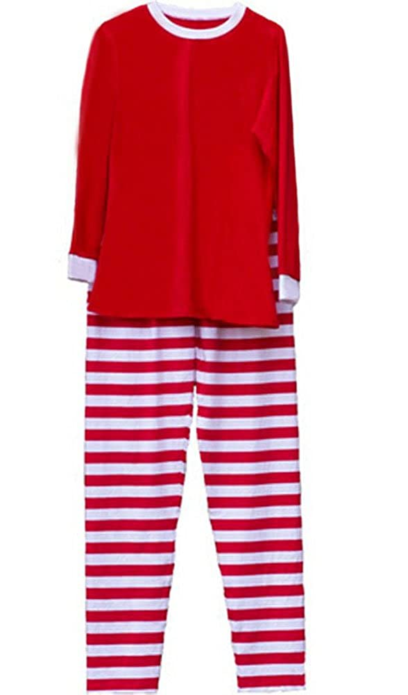 531124ea62 Amazon.com  WANGSCANIS Christmas Pajamas Red   Green and White Stripes Knit  Family Pjs Sets  Clothing