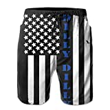 Dilly Dilly American Flag Men's Casual Shorts Swim Trunks Fit Performance Quick Dry Boardshorts