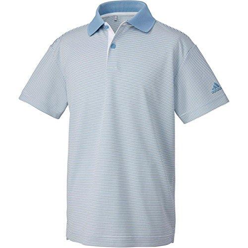 アディダス Adidas 半袖シャツ?ポロシャツ マイクロストライプ 半袖ポロシャツ ジュニア アッシュブルー 130