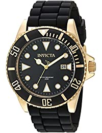 Men's 'Pro Diver' Quartz Stainless Steel and Silicone Casual Watch, Color:Black (Model: 90303)