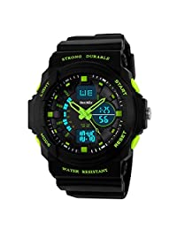BesWLZ Multi Function Digital LED Quartz Watch Water Resistant Electronic Sport Watches Child (green)