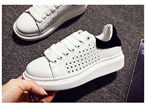 Sneaker Casual Da Donna In Pelle Bininbox Con Plateau Nero