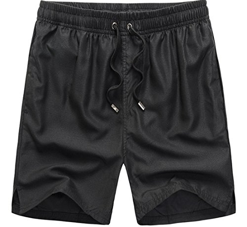 Haodasi Unisex Quick Dry Sports Jogging Beach Shorts Strand Shorts Swim Shorts Swimwear Bademode Boardshorts Color Black Size XXL