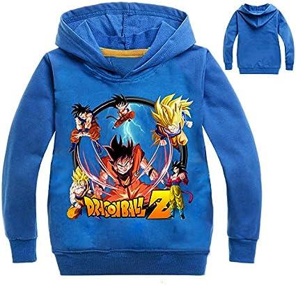 CTOOO 2018 New Dragon Ball Druck Jungen Kinder Hoodies Sweatshirt Kapuzenpullover Hohe Baumwolle Pullover Tops Schwarz Blau