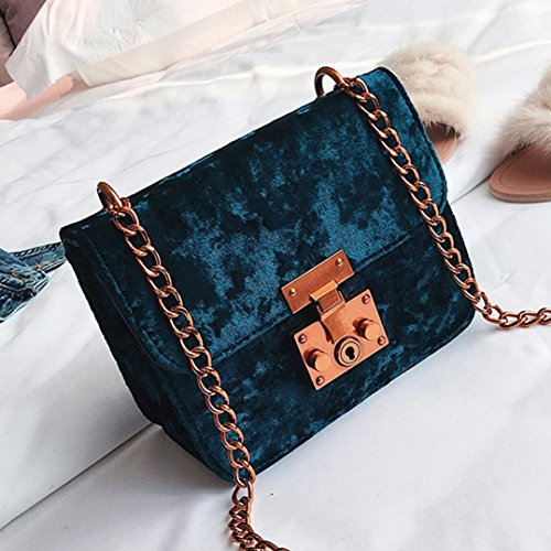 Retro Blue Women Party Shoulder SHOBDW Fashion Bags Messenger Tote Gifts Velvet Sexy Handbag Womens Cover Gold gUqYwp