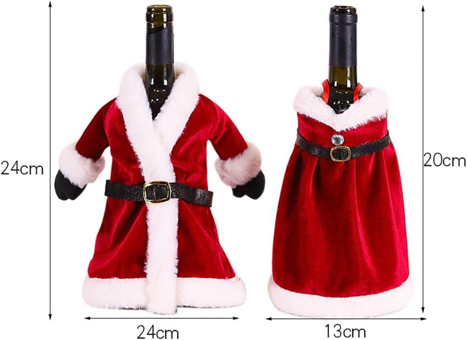 LAJIOJIO Botellas de vino tinto, bolsas, falda de Papá Noel ...