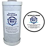 Carbon Filter, KleenWater KW4510CB Carbon Block Water Filter Cartridge, Compatible with 32-425-125-975, RFC-BB, WHEF-WHHPCBB, CBC-BB and EP-BB, Includes Replacement O ring (1)