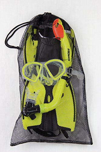 Promate Junior Mask Fins Snorkel Set for Kids, Yellow, LXL