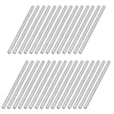 uxcell30Pcs Round Shaft Solid Steel Rods Axles 2mm x 40mm Silver Tone