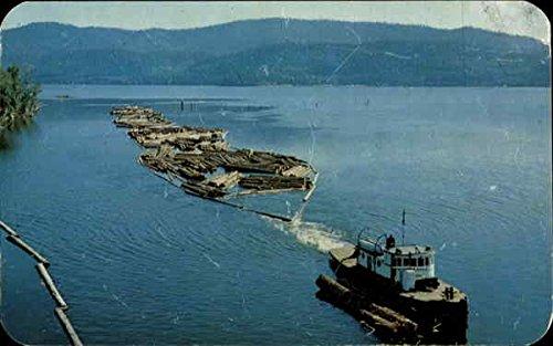 Tugboat With Braille Of 32 Ft. Logs Logging Original Vintage (Logging Boat)