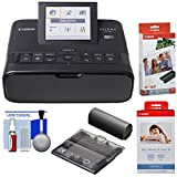Canon SELPHY CP1300 Wi-Fi Wireless Compact Photo Printer with NB-CP2LH Battery Pack + KP-36IP & KP-108IN Color Ink Paper Sets + Card Size Cassette Kit