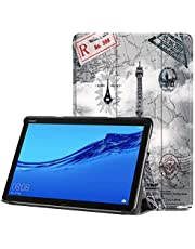 """BulaMall Case Compatible with Huawei MediaPad M5 Lite 10 inch, Tri-Fold Ultra Slim Stand Smart Case Cover with Auto Wake/Sleep Compatible for Huawei MediaPad M5 Lite 10"""" Android Tablet (Tower)"""