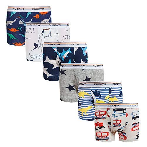 Boys Boxer Briefs Shorts, Cotton Dinosaur Shark Baby Toddler Underwear for Kids Boy 6 Pack 2/3t