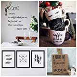 """YRYM HT Black Permanent Adhesive Vinyl Roll - 12"""" x 50 FT for Signs, Scrapbooking, Adhesive Vinyl Sheets for Cricut, Silhouette and Cameo Cutters"""