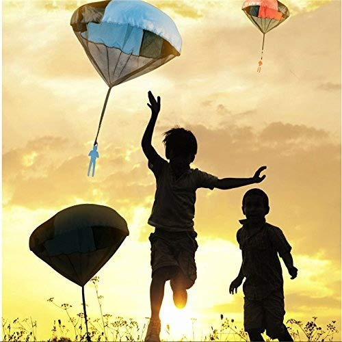BangBang 5PCS Random Color Skydiver Kids Toy Hand Throwing Parachute Kite Outdoor Play Game Toy