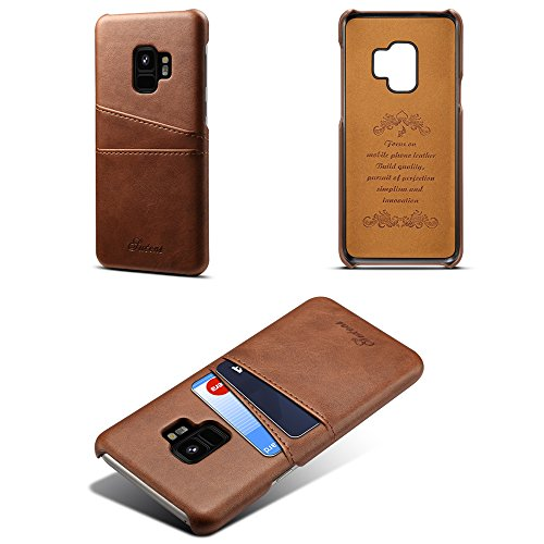 With Coffee Phone Women Back Men Slim Samsung 6 for S9 Galaxy Girls Boys Cover Credit Wallet Plus Case Colors S9 Leather Case Slots Holder Card FSqFX7