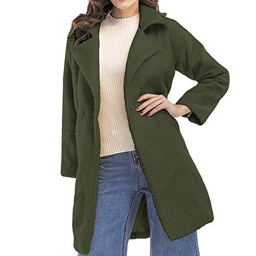 Outwear Femmes Vert Veste Solide Décontractée Survêtement coloré Mode La Long D'hiver M Fluffy Manteau Dames Parka Longues À Zipper Zhrui Manches De Taille fxnEXX