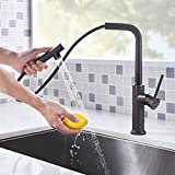 LAZADA Kitchen Faucet,Durable and Sturdy Pull Out Kitchen Faucet, Modern single lever commercial style Oil Rubbed Bronze Pull Down Kitchen Sink Faucets