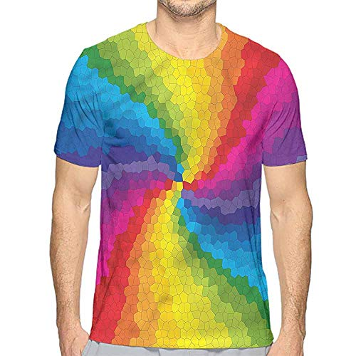 Comfort Colors t Shirt Colorful,Stained Glass Rainbow t Shirt M