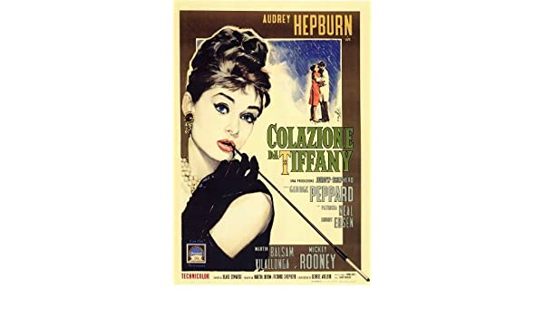 Amazon.com: Breakfast At Tiffanys Poster Movie Italian ...