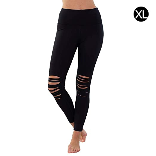 liuxi Pantalones de Yoga de Cintura Alta para Mujer ...