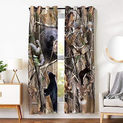SXCHEN Blackout Curtains 2 Panels Grommet Curtain