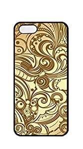 Design Phone Protective Cover case iphone 5s men - vintage yellow pattern