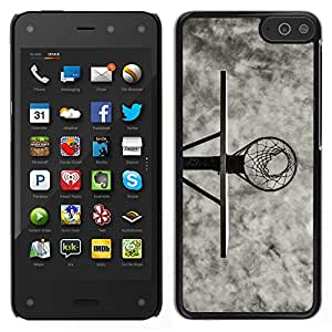 LECELL--Funda protectora / Cubierta / Piel For Amazon Fire Phone -- B & W Canasta de baloncesto --