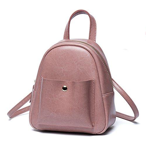 Mini Travel Leather Lady Purple Backpack Shoulder Bag Rucksack Cute twFqqS