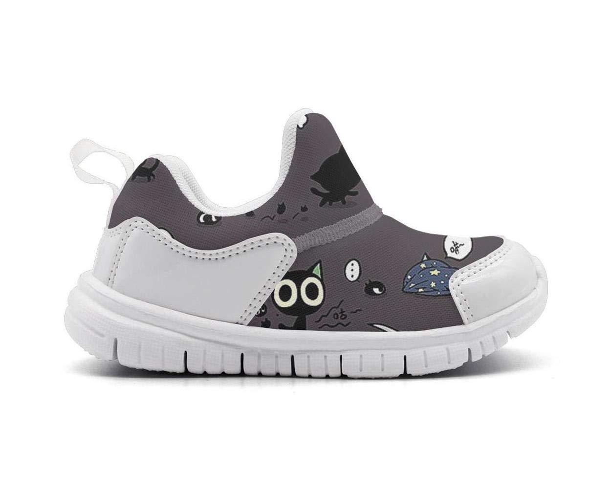 ONEYUAN Children Ninja cat Meow Warrior Kid Casual Lightweight Sport Shoes Sneakers Walking Athletic Shoes