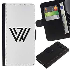 Paccase / Billetera de Cuero Caso del tirón Titular de la tarjeta Carcasa Funda para - Triangle Mark - Samsung Galaxy S3 III I9300