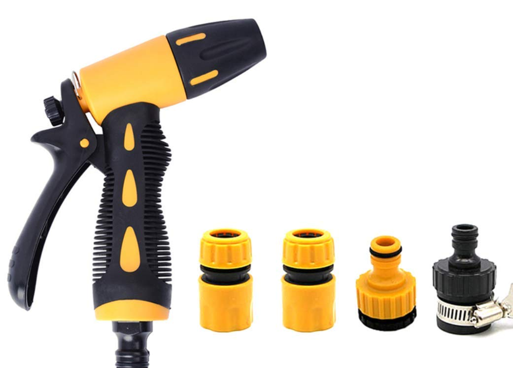 JKLcom Garden Hose Nozzle Hose Nozzle Outdoor Garden Hose Nozzle Hand Sprayer Water Nozzle with 4 Adjustable Watering Patterns,for Car Wash,Cleaning,Watering Lawn and Garden,Washing Dogs and Pets