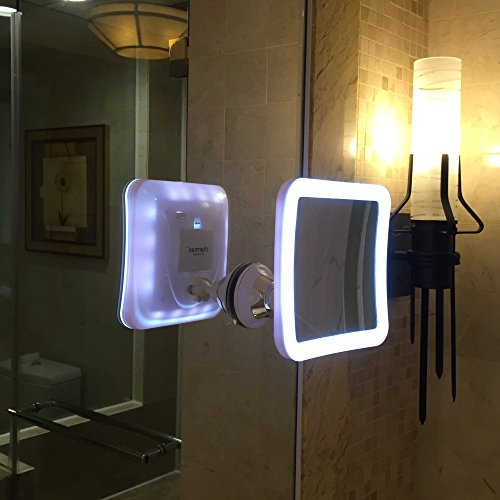 battery operated lights bathroom charmax 7x magnifying lighted makeup mirror with bag 17266