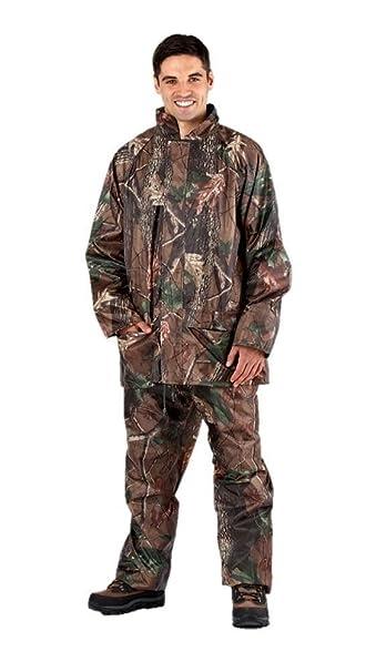 Hombre ProClimate Camuflaje Impermeable Traje Con Capucha Caza Chaqueta Y Pantalones: Amazon.es: Ropa y accesorios