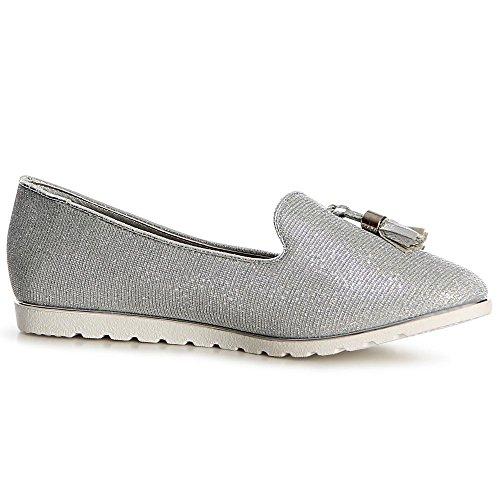 topschuhe24 1120 Damen Slipper Loafer Ballerina Glitzer: Amazon.de: Schuhe  & Handtaschen