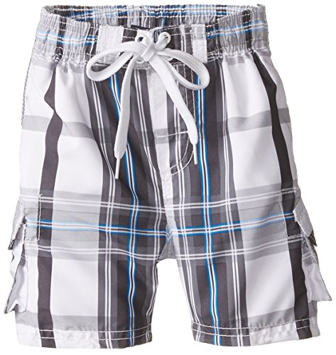Kanu Surf Toddler Boys' Reflection Quick Dry Beach Swim Trunk, Andy White, 3T (Boy Swimsuit Toddler)
