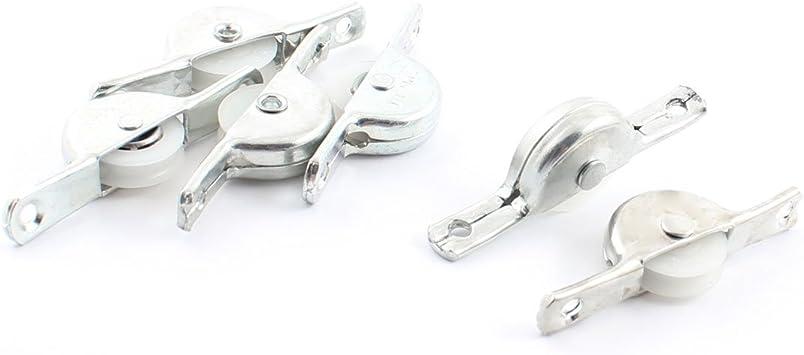 Para armario de puertas correderas riel sola rueda plata 6 piezas: Amazon.es: Bricolaje y herramientas