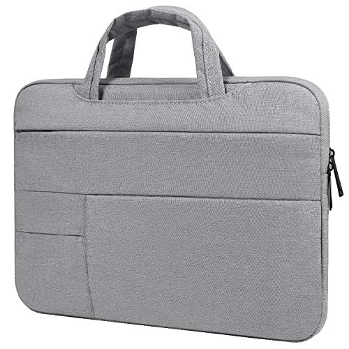 15.6 Inch Waterproof Laptop Bag Travel Briefcase Messenger Bag Business Office Bag Compatible Acer Predator Helios 300/Chromebook 15,Acer Aspire E 15,DELL HP Lenovo Samsung ASUS Notebook Handbag,Gray