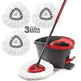 O-Cedar EasyWring Microfiber Spin Mop & Bucket Floor Cleaning...